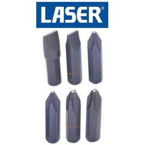 LASER TOOLS LASER 6 Piece HandImpactHammer Driver Screwdriver Bit Set Ph2/Ph3/Slot