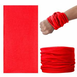 JS One (Red, 25cm x 50cm) Unisex Multi Use Bandana Face Cycling Biker Outdoor Snood Nec