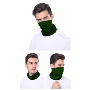 JS One (Army Green, 25cm x 50cm) Unisex Multi Use Bandana Face Cycling Biker Outdoor Sn
