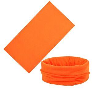 JS One (Orange, 25cm x 50cm) Unisex Multi Use Bandana Face Cycling Biker Outdoor Snood