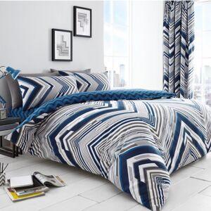 Gaveno Cavailia (King, Blue) Austin Striped Duvet Cover Set