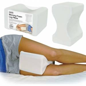 Ranpo Memory Foam Leg Pillow Orthopaedic Back Hips Knee Contour Support Washable Cover