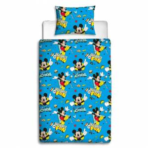 Character World Mickey Mouse Cool Single Duvet Cover Quilt Cover Set Polyester