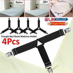 ACENIX 4PCS TRIANGLE BED SHEET MATTRESS HOLDER FASTENER GRIPPERS CLIPS SUSPENDER STRAPS