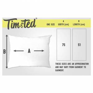 Tim And Ted (One Size, White) Grumpy Pillow Case Shhh No One Cares Joke slogan Moody Rude Fu