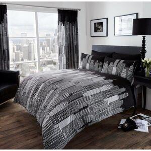 Gaveno Cavailia (King) Skyline black & white cotton blend duvet cover