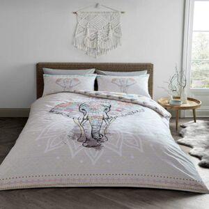 Gaveno Cavailia (King, Natural) Ebony Elephant Themed Duvet Cover Bedding Set
