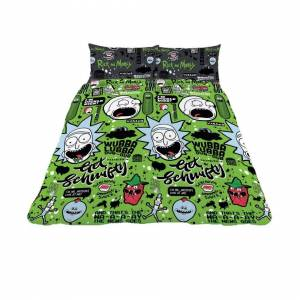 Rick And Morty Get Schwifty Duvet Cover Set