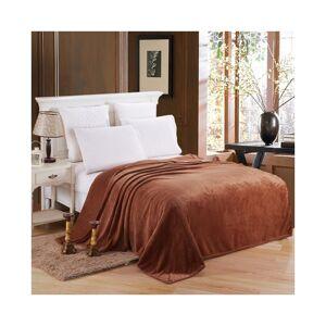 Unbranded (Coffee, 120*200cm) Warm Soft Large Polar Fleece Throw Blanket Sofa Bed Room Tra