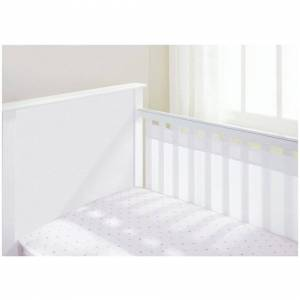 BreathableBaby (White) Breathable Baby Airflow 2 Sided Cot Liner - Marabou