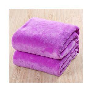 Unbranded (Purple, 120*200cm) Luxury Throw Blanket