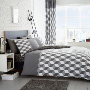 Gaveno Cavailia (King, Grey) Cubix Duvet Cover Bedding Set