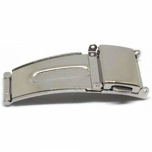 Cousins (18mm) Watch Strap Clasp 3 Fold Sprung Release Stainless Steel