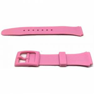 Cousins (18mm) Pink Rubber Lightweight Watch Strap with Coloured Buckle Size 14mm and 18