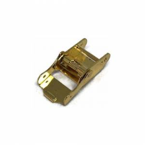 Cousins (10mm) Watch Strap Clasps Sliding Clamp Style Gold Plated Sizes 7mm to 18mm