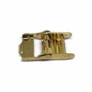 Cousins (15mm) Watch Strap Clasps Sliding Clamp Style Gold Plated Sizes 7mm to 18mm