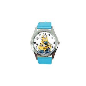 Taport Minion Quartz Watch Blue Leather Band