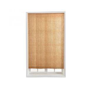 Slowmoose (90 180, 1) Self Adhesive Pleated Blinds Half Blackout Bathroom Windows Curtains