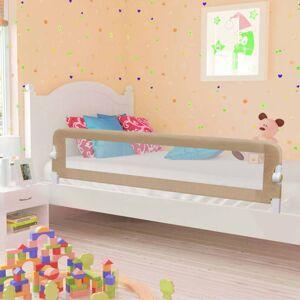 vidaXL Toddler Safety Bed Rail Taupe 180x42cm Polyester Kids Nursery Rails