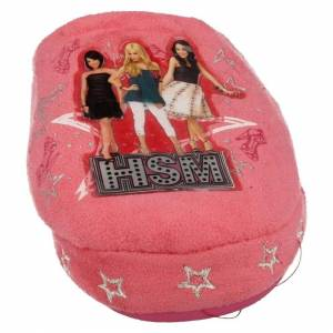 Spot On (Pink, UK 1-2 Child) Girls High School Musical Mule Slippers HSM Dazzle