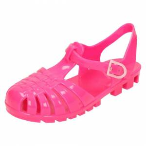 Spot On (UK 7 Infant, Fuchsia (Pink)) Girls Spot On Closed Toe Jelly Sandals