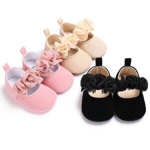 Slowmoose (Black/0-6 Months) Newborn Soft Sole Anti-slip Shoes