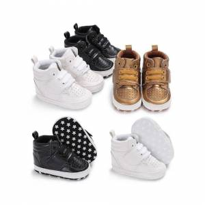 Slowmoose (Black/13-18 Months) Autumn Newborn Baby Shoes, Soft Bottom Anti Skid, Leather B