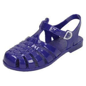 Spot On (UK 10 Child, Navy (Blue)) Girls Spot On Closed Toe Jelly Sandals