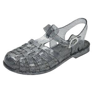 Spot On (UK 11 Child, Smoke Glitter (Grey)) Girls Spot On Closed Toe Jelly Sandals