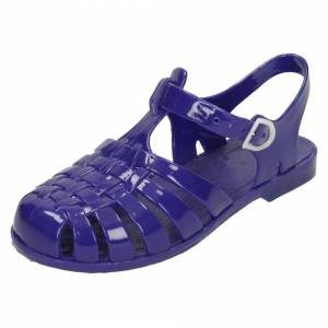 Spot On (UK 2 Child, Navy (Blue)) Girls Spot On Closed Toe Jelly Sandals
