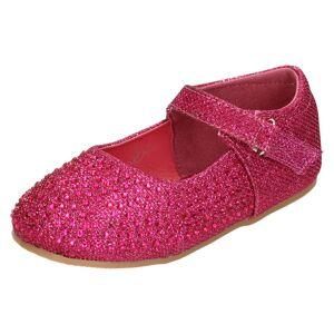 SAVANNAH (UK 4 Infant, Fuchsia (Pink)) Girls Savannah Flat Glitter Ballerina