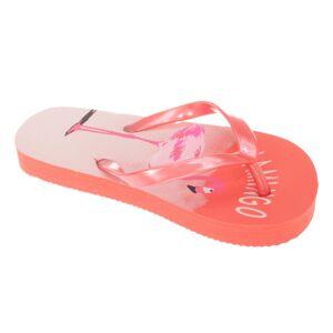 Sand rocks (9/10 Child UK, Salmon) Sandrocks Childrens Girls Flamingo Flip Flops