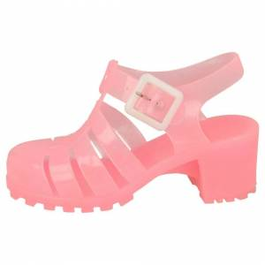 Spot On (UK 1 Child, Fuchsia (Pink)) Girls Spot On Jelly Shoes