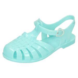 Spot On (UK 6 Infant, Mint (Blue)) Girls Spot On Closed Toe Jelly Sandals