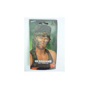 Smiffys Army Headband, Camouflage, 150cm x 4cm -  army headband fancy dress camouflage s
