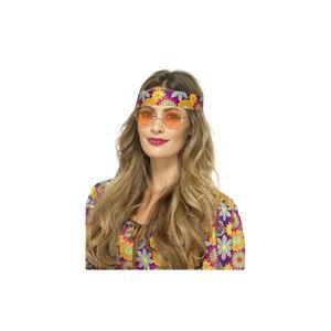 Unbranded Hippie Specs, Orange - Adults Mirrored Specs Mens Ladies 60s 70s Hippy Fancy -