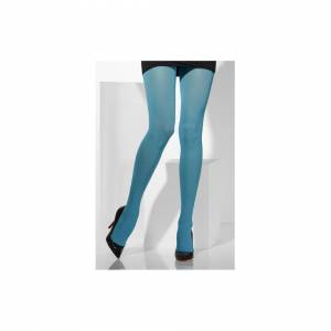 Unbranded Blue Opaque Tights -  tights opaque blue fancy dress womens ladies costume acces