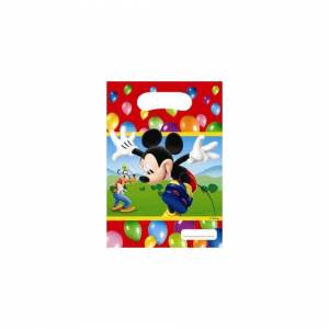Disney Pack of 30 Mickey Party Plastic Time Party Bags - 16.5 x 23 cm Disney Favour bag