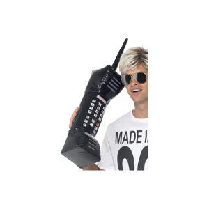 Smiffys Smiffy's 30-inch Inflatable Retro Mobile Phone - Black - Fancy Dress Smiffys -