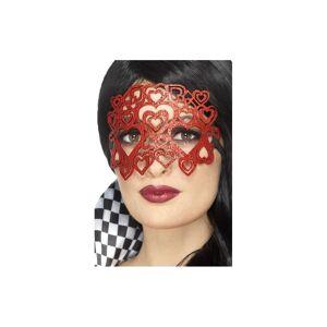 Unbranded Smiffy's 20344 Soft Felt Glitter Eye Mask (one Size) - Fancy Dress Ladies -  gli