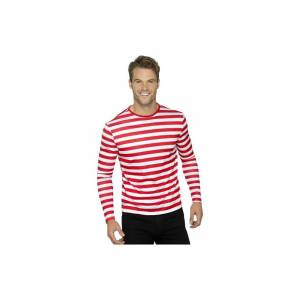 Unbranded Smiffy's 46830s Stripy T-shirt (small) -  fancy dress costume red tshirt mens ad