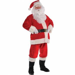AMSCAN (S/M) Plush Santa Claus Costume   Christmas