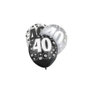 Unique Age 40 Birthday Balloons Black Glitz
