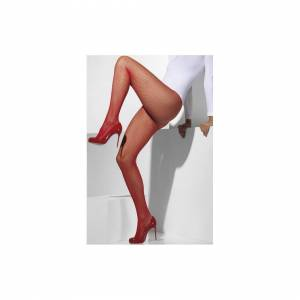 Unbranded Smiffy's Fishnet Tights - Red -  fishnet tights red fancy dress accessory womens