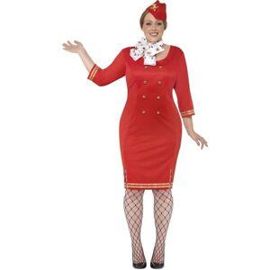 Smiffys Curves Air Hostess Costume, XXL