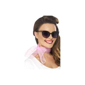 Unbranded Smiffy's 50's Neck Scarf Chiffon Style - Pink - 50s Fancy Dress Smiffys Ladies -