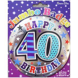 simon elvin Age 40 Large Birthday Badge Male