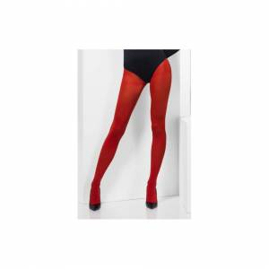 Unbranded Red Opaque Tights -  tights opaque red fancy dress ladies accessory womens smiff