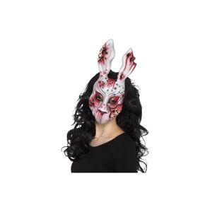 Unbranded Smiffy's 20343 Evil Bunny Mask (one Size) -  evil white bunny mask horror hallow