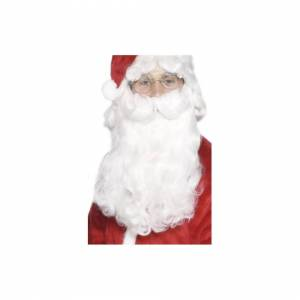 Unbranded Santa Beard, White, 38cm / 15in, Deluxe -  beard santa deluxe christmas fancy dr